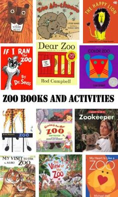 Preschool and Kindergarten Zoo Books and Activities! A roundup of must have books when doing a preschool or kindergarten zoo unit! Preschool Zoo Theme, Preschool Books, Kindergarten Activities, Children Activities, Preschool Lessons, Preschool Classroom, Preschool Ideas, Learning Activities, The Zoo