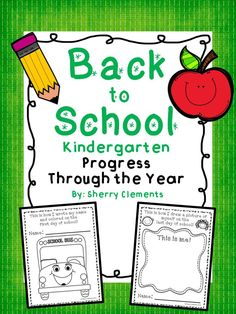 FREEBIE SAMPLE: Back to School - Kindergarten - Progress Through the Year (Preschool, Kindergarten, first grade & second grades) Shows progress in coloring, name writing, and drawing self! Complete product also includes writing ABC's and numbers, and drawing a picture and writing about it!  Great for collecting work throughout the year and saving for an end of year portfolio! $