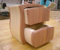 Diy hand made cedar wood log jewelry box keepsake secret cubby