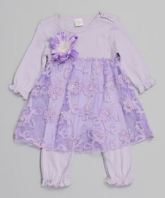 Love this Violet Isabella Lace Skirted Playsuit - Infant by Truffles Ruffles on #zulily! #zulilyfinds