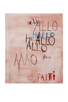 Walter Swennen, Allo Patti, Oil on canvas, 2011