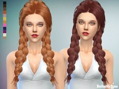 B-fly hair afb 142 No hat (Pay) at Butterfly Sims • Sims 4 Updates