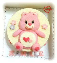 Loving Creations for You: Pink Care Bears Strawberry-Vanilla Chiffon Cake