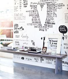 The writing's on the wall. I'm still hung up on this idea for a feature wall in Matthew's bedroom.
