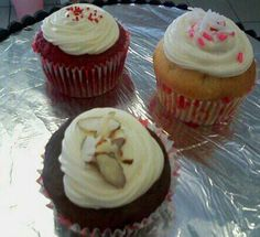 Red Velvet, Chocolate Cherry, and Coconut Creme Cupcakes...www.jbelstastries.com