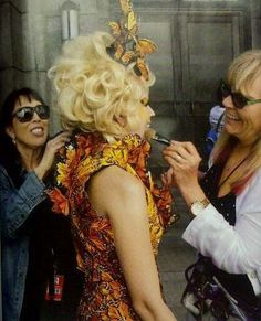 BEHIND THE SCENES: Effie gets prepared for Catching Fire reaping scene