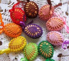 """Képtalálat a következőre: """"jajka wielkanocne na szydełku schematy"""" #CrochetEaster"""