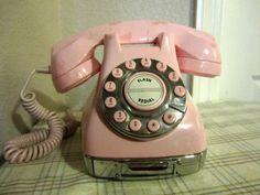 Vintage Pink Metro Phone by GKUnited on Etsy
