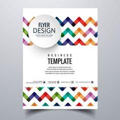 Brochure Daffaires Colorful Vecteur GratuitCarte De VisiteConception