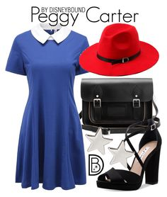 """""""Peggy Carter"""" by leslieakay ❤ liked on Polyvore featuring Nina, Jennifer Meyer Jewelry, disney, disneybound and disneycharacter"""