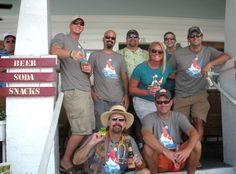 Creators of the Conched in Key West Bar Crawl. Good lookin' group!