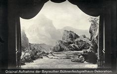 """"""" Das Rheingold """" 2.Bild  1911   Max Brückner  Bühnenphoto"""