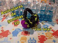 Auriculares/audífonos en 3D con gomitas/ligas TELAR