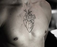 Polygon Heart tattoo | by Kamil Czapiga