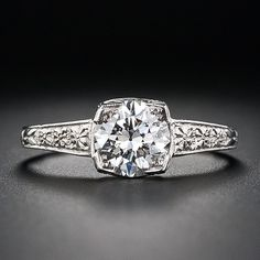 proof that vintage doesn't have to be expensive: $6,950, 1.10 Carat Art Deco Diamond Engagement Ring