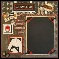 Tae Kwon Do Framed Scrapbook Presentation