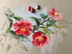 La imagen puede contener: planta y flor Soft Pastel Art, Pastel Artwork, Pastel Drawing, Pastel Colors, Pinturas Color Pastel, Pastel Crayons, Toned Paper, Crayon Art, Botanical Art