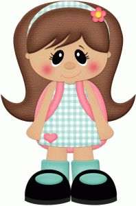 Silhouette Design Store - View Design school girl w backpack pnc Girl Clipart, Cute Clipart, Paper Piecing, Foam Crafts, Paper Crafts, Silhouette Online Store, Dibujos Cute, Decorate Notebook, Clip Art