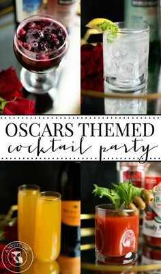 Oscars Cocktail Party via A Night Owl >> #WorldMarket Movie Lovers
