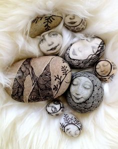 Painted rocks by  Olga Sugden