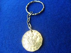 70th Birthday present 1944 brass threepenny coin by staffscoins