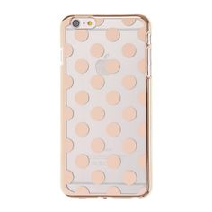 Rose Gold Polka Dots Phone Case - iPhone 6/6s Plus