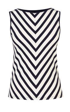 CHEVRON-STRIPE VEST | Luxury Women's new-in_garments | Karen Millen