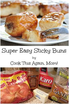 This recipe for Super Easy Sticky Buns is so easy... and so good! Yum! They are great for dessert, or when you want something sweet for breakfast.
