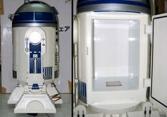 R2-D2 Fridge.  Creative refrigerator manufactured for Star Wars contest in Japan.