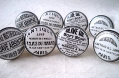 Lot de 8 boutons de Porte Placard Tiroir Meuble Céramique vintage shabby chic