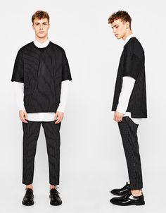 Bershka France - Pantalon tailleur coupe slim à pinces Taille 36