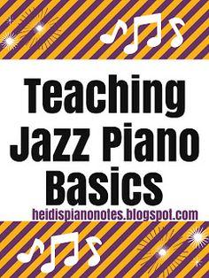 Piano Ear Training Heidi's Piano Studio: Teaching Jazz Piano Basics Piano Keys, Piano Music, Teach Yourself Piano, Piano Pictures, Blues Scale, Piano Tutorial, Piano Man, Easy Piano, Piano Teaching