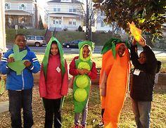 amazing veggie costumes from the Washington Youth Garden
