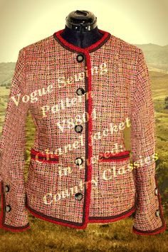 inspirations on Internet; Vintage Classics, Vintage Style, Vintage Fashion, Chanel Style Jacket, Couture Jackets, Chanel Couture, Vogue Sewing Patterns, Cardigan Fashion, Chanel Fashion