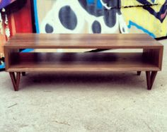 SALE **Handmade Midcentury modern TV console in solid walnut (with hairpin legs)**