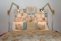 17 DIY Headboards Ideas That Will Wake Up Your Tired Bedroom: DIY Headboard for Bibliophiles