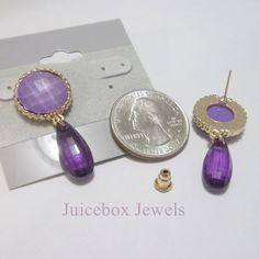 PURPLE /Lavender POST Dangle Drop Pierced by JuiceboxJewels