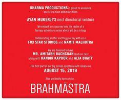 "#LatestNews: Amitabh Bachchan Ranbir Kapoor and Alia Bhatt to star in Ayan Mukerji's next ""Brahmastra"". Produced by Karan Johar. Releasing on 15th Aug 2019. .  Follow  @filmywave  . #Brahmastra #AmitabhBachchan #RanbirKapoor #AliaBhatt #KaranJohar #AyanMukerji #celebrity #bollywood #actor #actress #star #fashion #fashionista #bollywoodfashion #bollywoodstyle #glamorous #hot #sexy #love #beauty #instalike #instacomment #instafollow #filmywave"