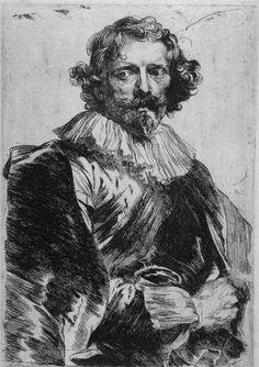 Anthony van Dyck, Sketch of Lucas Vorsterman, c. 1630s