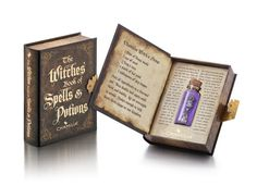 This totally bewitching gift set has three frighteningly wicked sterling silver charms all found in a glass potion bottle hidden in our Gothic Book of Potions and Spells. Seriously Witchy - A fully sc