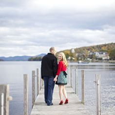I like this idea for a photo...the dock at the vineyard is small, but I think with the right angle it would work!