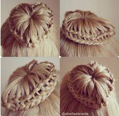 Bride maid hair