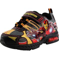 "Marvel Comics ""Iron Man"" Black Toddler & Kids Lighted Shoes Sneakers (7 M US Toddler) Marvel http://www.amazon.com/dp/B00EKJW2M6/ref=cm_sw_r_pi_dp_GhL1tb0DP0SP6NH0"