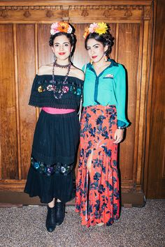 """Paula Duran, 30 and Alexandra Gonzalez, 24How would you describe your look?Paula: """"Frida Kahlo-inspired, expression through art.""""Alexandra: """"Mexican culture and diversity."""" #refinery29 http://www.refinery29.com/2016/11/130843/afropunk-fancy-dress-ball-best-dressed#slide-19"""