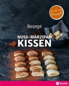 """Rezept für """"Nuss-Marzipan-Kissen"""". #sevencooks #einfachgesundkochen #marzipan #lplätzchen #winterrrezepte #rezeptideen #gesundeernährung #saisonal #nachhaltig #vegankochen #vegetarischkochen #veganerezepte #healthy #veggie #inspiration #sustainable #selfmade #veganfoodshare #veggies #delicious"""