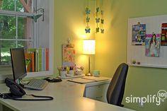 organized desk area
