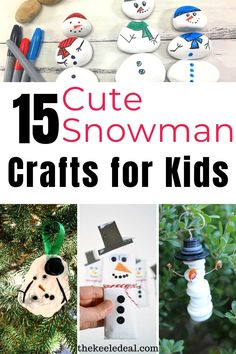 15 Cute Snowman Crafts for kids to make this winter. Snowman crafts are not only perfect for the Christmas season but also all winter long. Since snowmen aren't holiday specific you can enjoy these crafts all winter long. Diy Snowman Gifts, Cute Snowman, Snowman Crafts, Snowmen, Christmas Countdown Crafts, Diy Christmas Gifts, Holiday Crafts, Paper Crafts For Kids, Crafts For Kids To Make