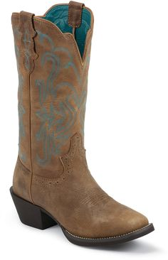 Justin Women's Punchy Western Boots from Bootbay, Internet's Best Selection of Work, Outdoor, Western Boots and Shoes. Cowboy And Cowgirl, Cowgirl Boots, Western Boots, Justin Boots, Westerns, Shoes, Christmas, Outdoor, Fashion