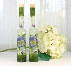 Oil and Vinegar Bottles Oil & Vinegar Set Set of 2 by witchcorner