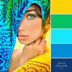 Gelb Grün Blau